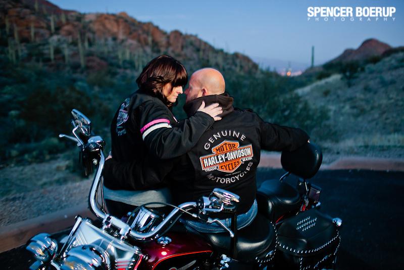 tucson reid park zoo engagement photos wedding arizona harley motorcyle