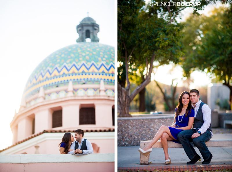 tucson downtown engagement photo session uofa wedding arizona couple