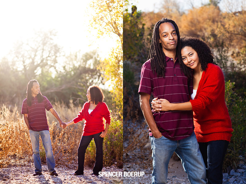 tucson dread dreadlock engagement portrait fun downtown couple