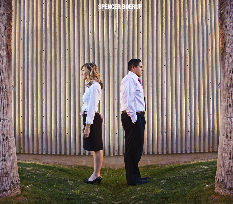 tucson engagement portrait photo urban formal modern