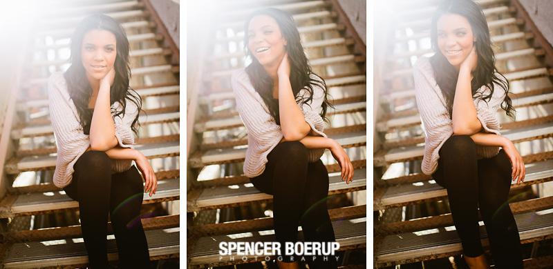 tucson senior photo portrait arizona high school model urban downtown