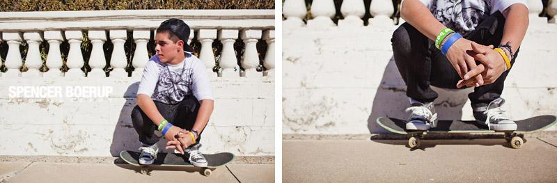 tucson senior portraits skateboard truck train downtown urban arizona high school
