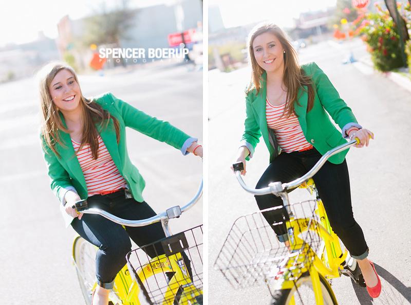 tucson senior photos arizona downtown urban grunge bike fun