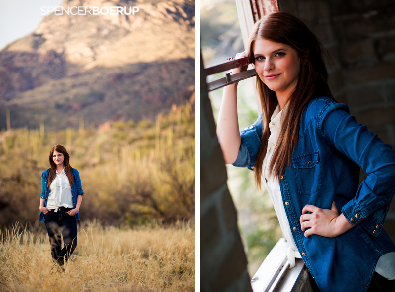 tucson senior photos arizona downtown urban ranch barn mountains sabino