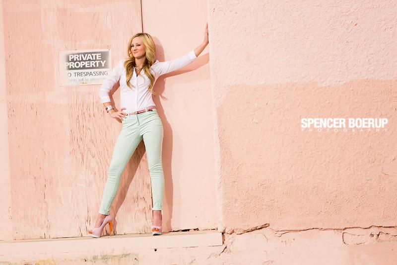 tucson senior photos arizona downtown urban model fashion car grunge high school