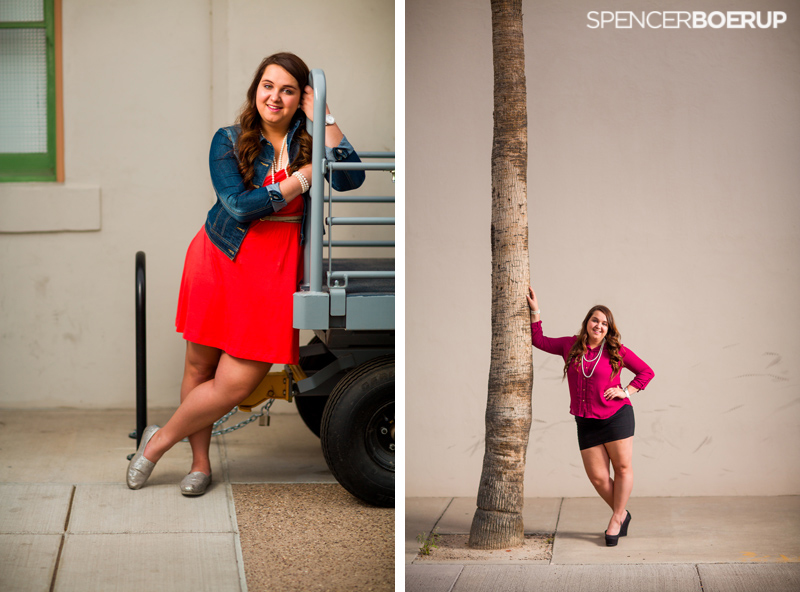 tucson senior portraits arizona downtown modern city urban