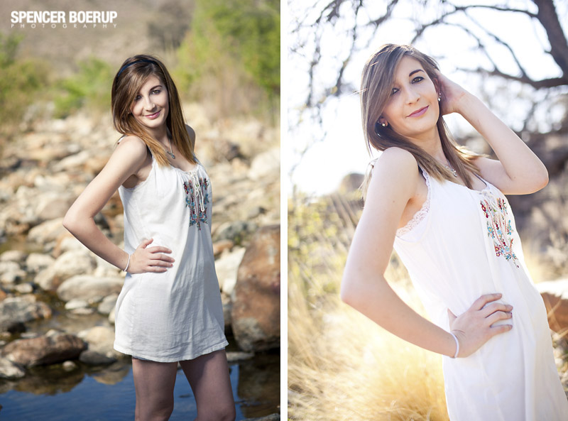sabino canyon portraits tucson senior high school arizona