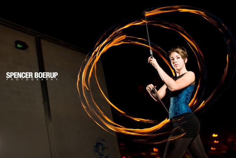 benson tucson arizona senior portrait spin poi fire flame nature
