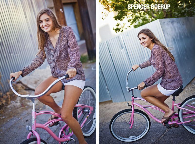 4th avenue tucson arizona senior portraits photos downtown bicycle