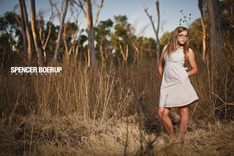 arizona senior photo tucson portrait photographer tubac grove trees water stream fashion