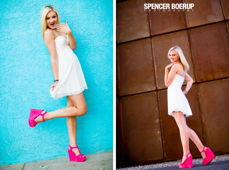 tucson senior photo downtown arizona urban model fashion color buildings