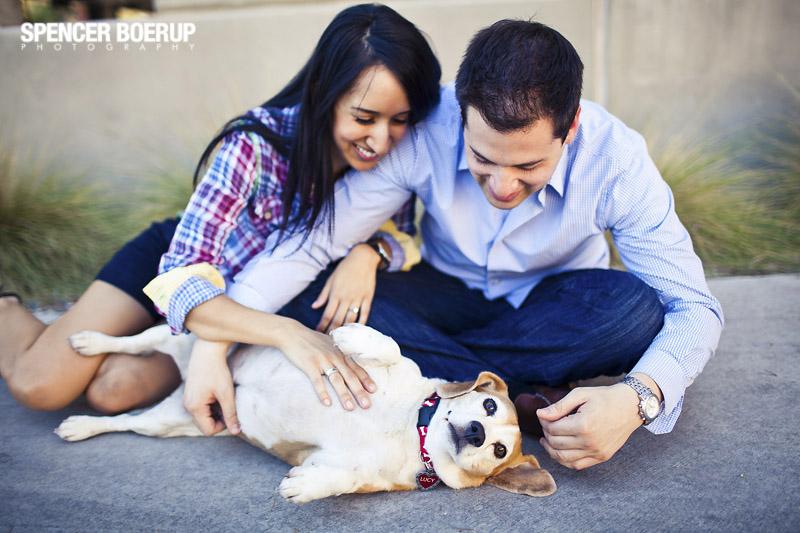 tucson engagement photos arizona university uofa urban downtown dog pet animals