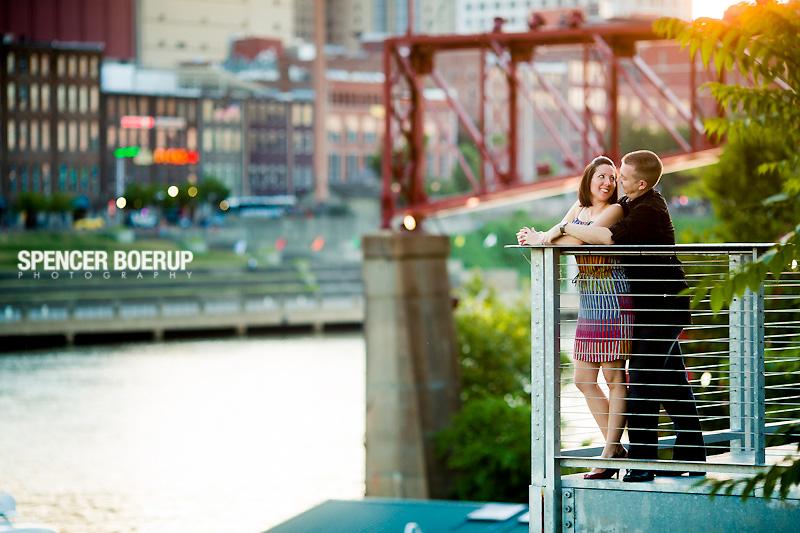 nashville engagement photos bridge downtown skyline park urban fun hip