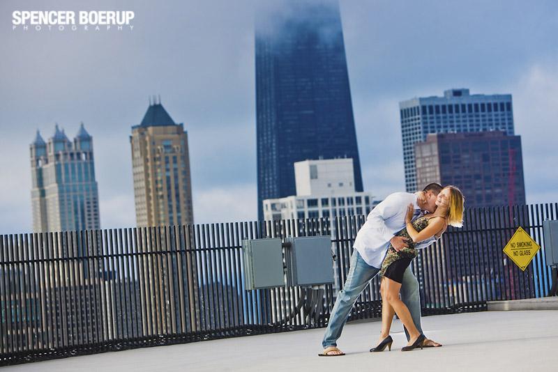 chicago engagement photos portraits wedding downtown millenium park illinois city love