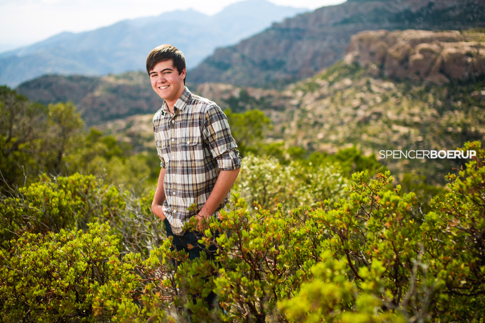 tucson senior photos mt lemmon hiking nature downtown guy