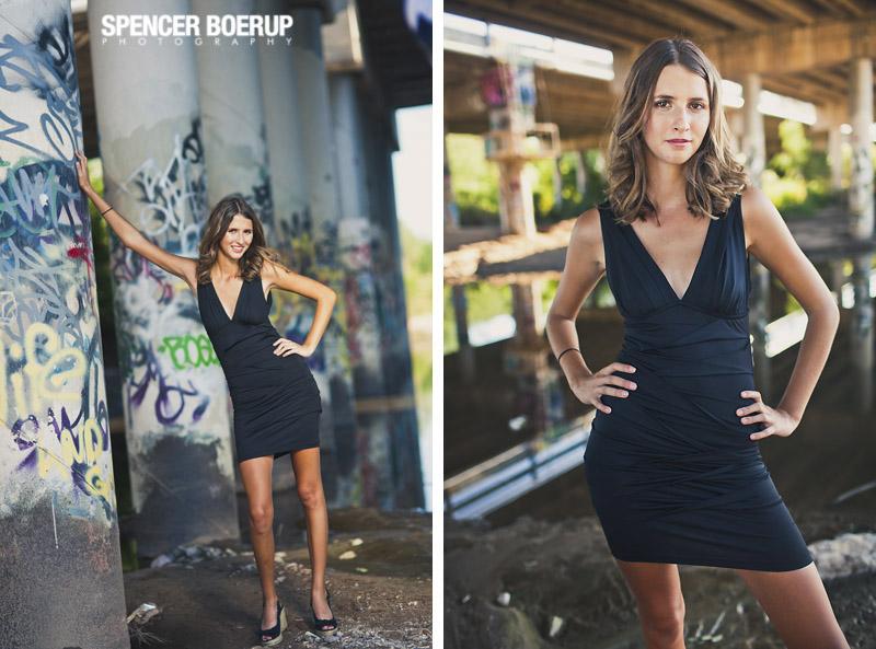 tucson senior photos portrait arizona downtown underpass grunge urban model golf sports fashion salpointe