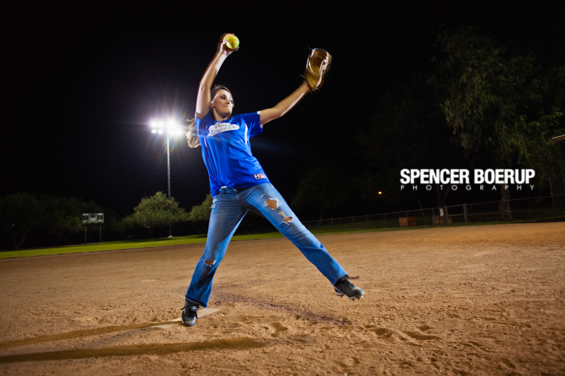 tucson senior portrait benson softball rural field arizona