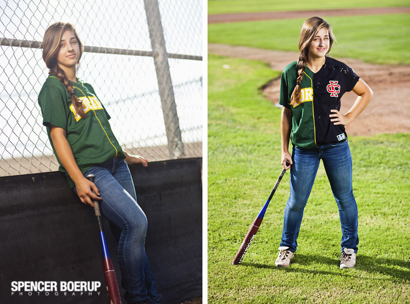 tucson senior portraits benson field rural softball green nature