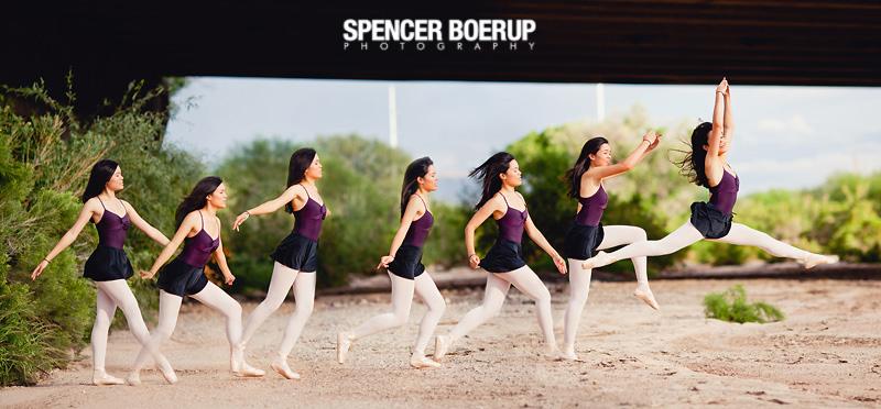 tucson senior portrait ballet dance arizona downtown wash graffiti urban photo