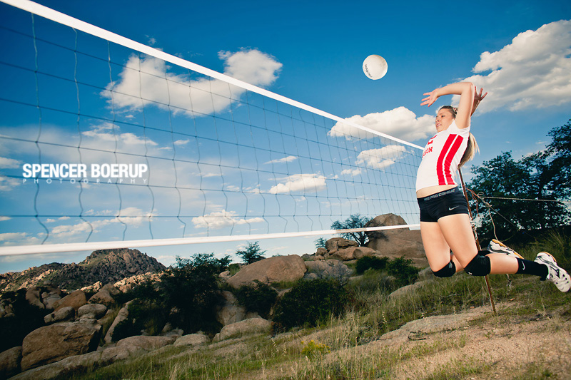 tucson senior portrait photos desert volleyball arizona desert country model
