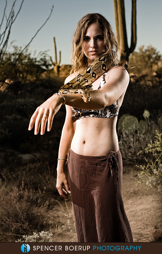 tucson portrait photography model snake