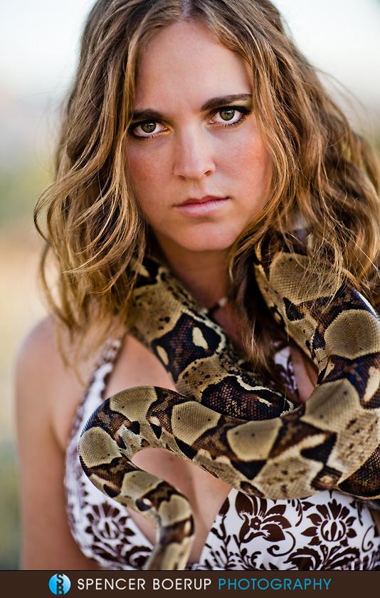 tucson portrait photography model snake