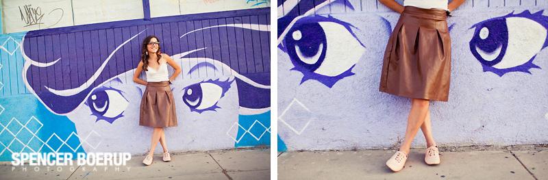 tucson senior photos arizona graffiti downtown urban funky portrait art 4th ave avenue
