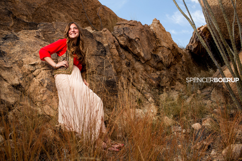 senior photos tucson arizona nature rocks desert boyfriend girlfriend couple field meadow