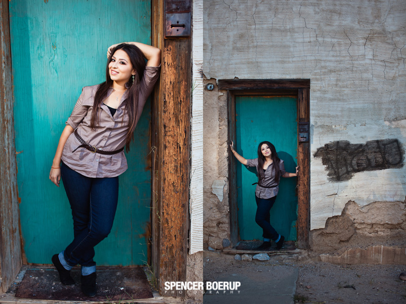 tucson senior portrait downtown coffee fashion model grunge urban