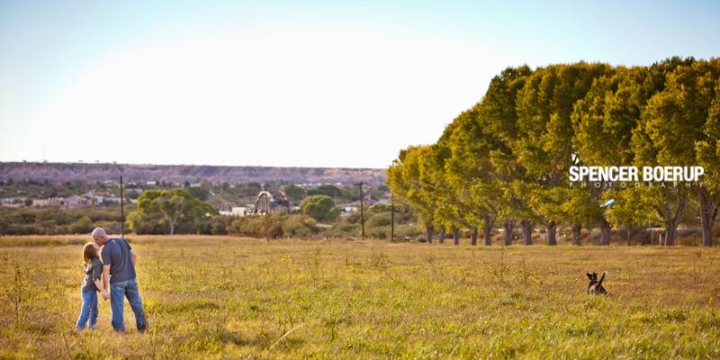 tucson engagement portrait farm rural country field dog photography arizona