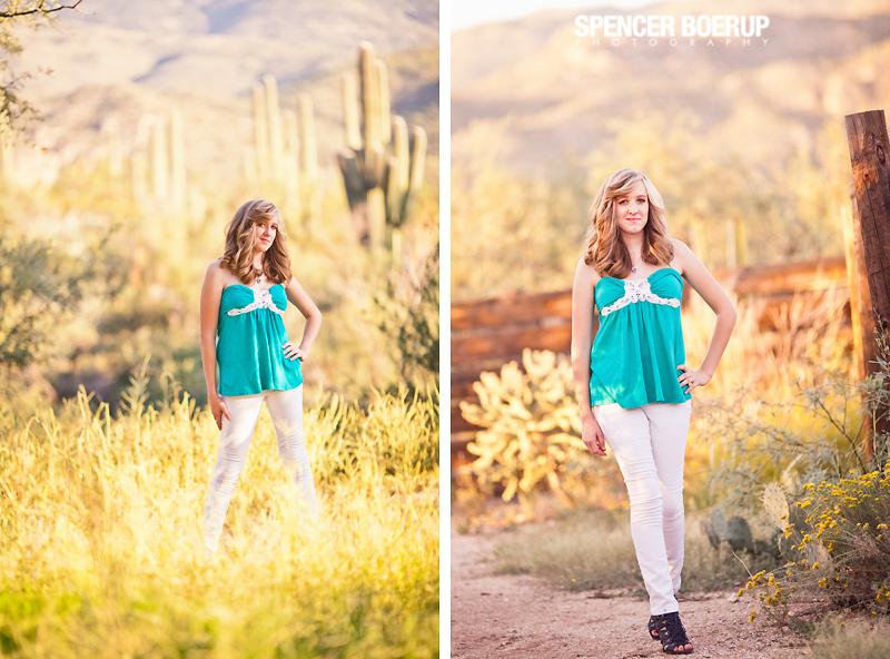sabino canyon tucson senior photos photographer arizona high school southwest ranch desert portraits