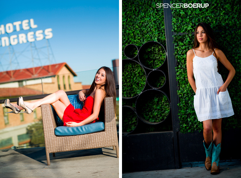 tucson senior photos downtown model fashion urban modern raw vogue portraits
