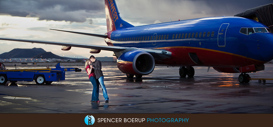 tucson arizona wedding engagement photography airport southwest airlines